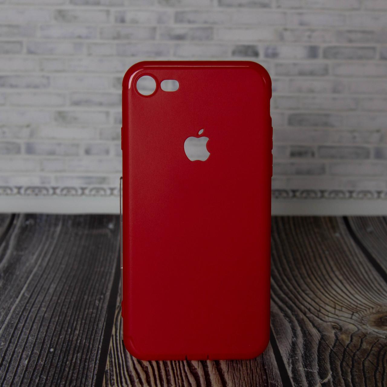 Силиконовый бампер для IPhone 7 8 красный