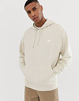 Мужская кофта кенгуру Nike (Найк) бежевая