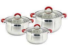 Набор посуды из нержавеющей стали Zauberg 3 шт 2л/3л/4л  (ZB-234R)