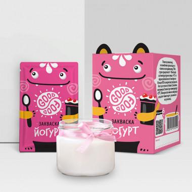 Закаваска Йогурт -йогурт ускоряет выведение шлаков и продуктов обмена веществ из организма (10шт.,Украина)
