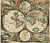 Антикварная карта 100см х 116см (ткань, подрамник)