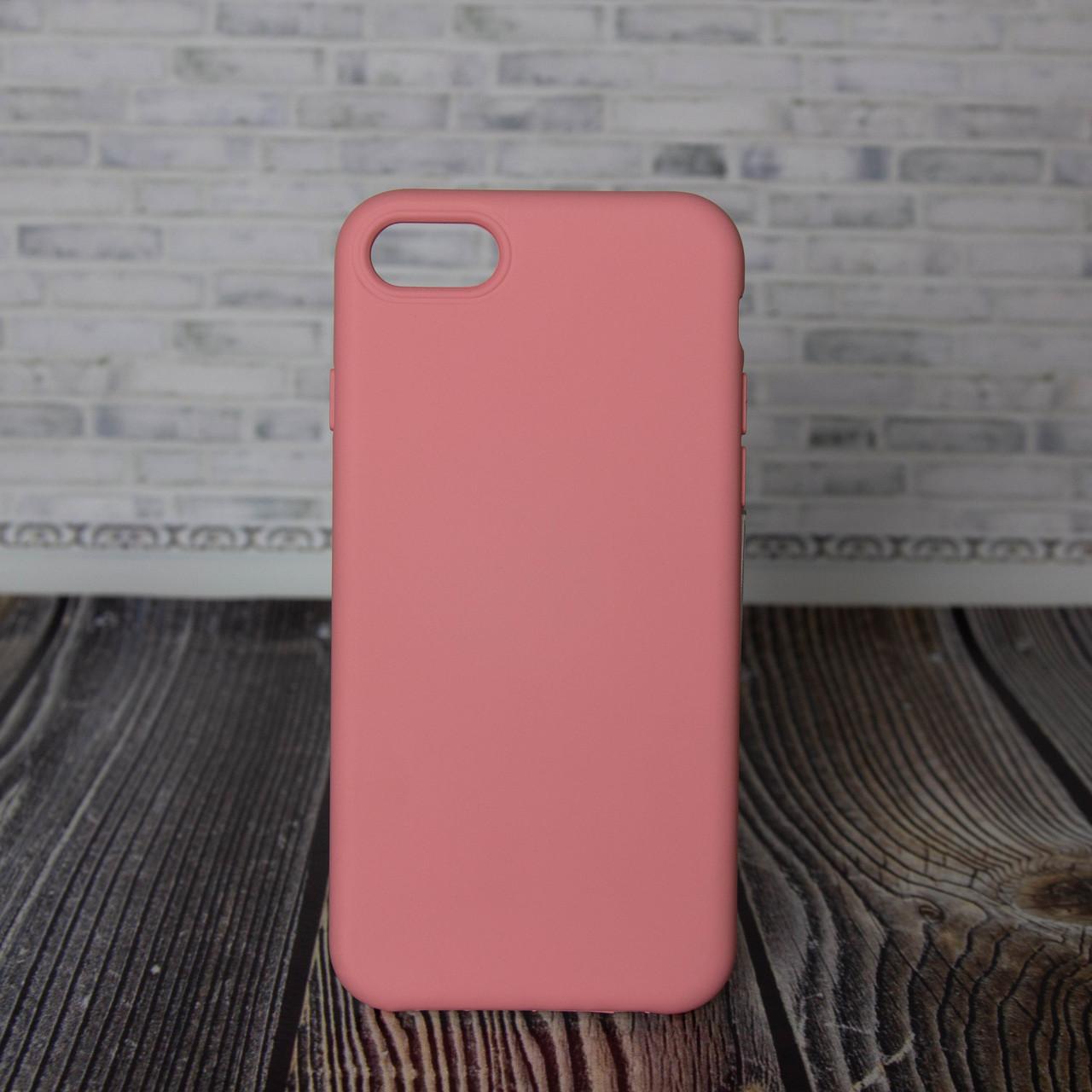 Силиконовый бампер для IPhone 7 8 розовый Silicone Case