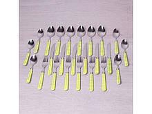 Набор столовых приборов Kamille 24 предмета с подставкой (5242)