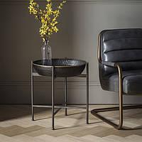 Приставной столик Gallery Direct Wesley черный+золото (5055999238090)