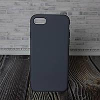 Силиконовый бампер для IPhone 7 8 серый