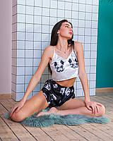"""Шелковая пижама. """"Panda"""". Шелковая пижама женская. Размеры S,M,L. Шелковые пижамы женские. Пижама шелк."""