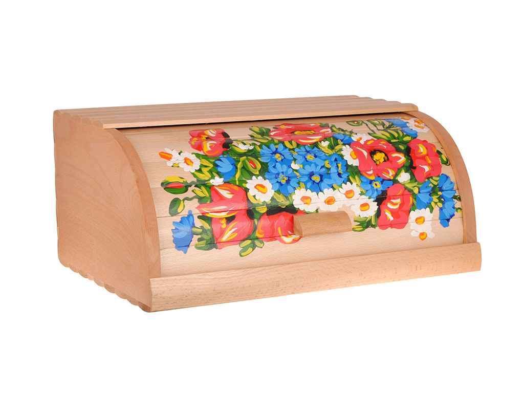 Хлебница деревянная с рисунком 370*270*170 мм