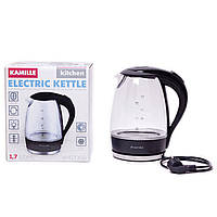 Чайник электрический Kamille 1.7л с синей LED подсветкой
