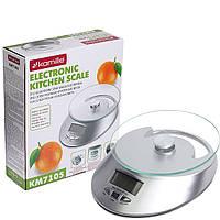 Весы электронные кухонные Kamille 19,5*22,7*7 см KM-7105, фото 1