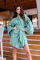 """Платье-халат женское кимоно льняное мод 1547 (42-48) """"VALERIA"""" недорого от прямого поставщика"""