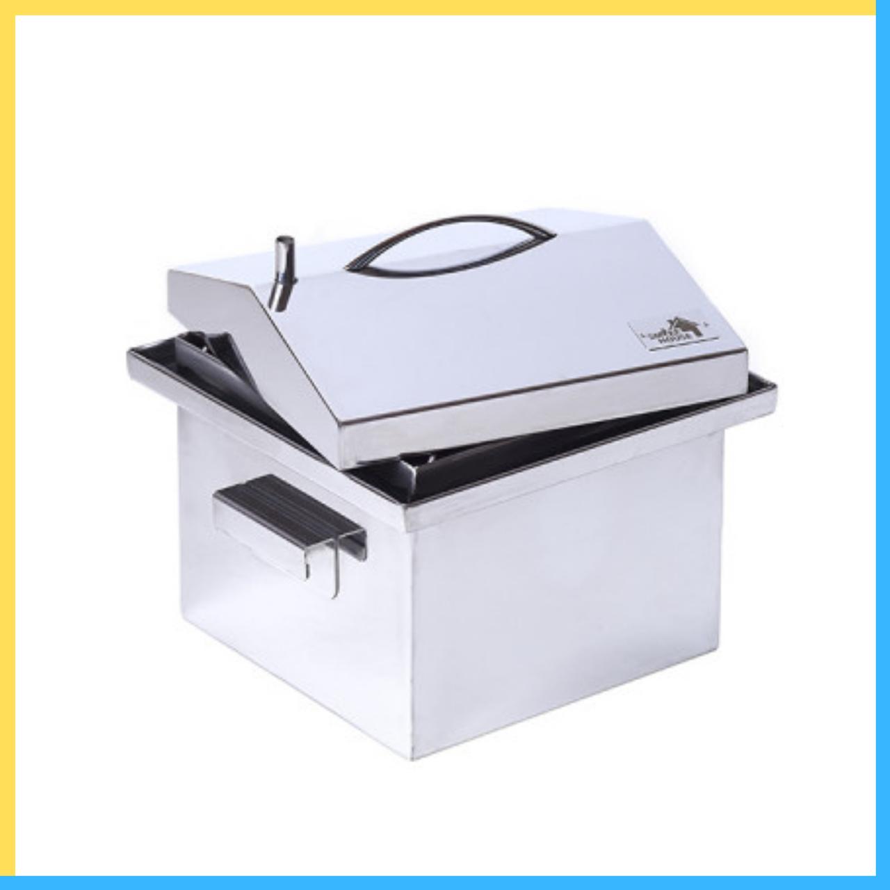 Коптильня для горячего копчения 300х300х250 (нержавейка)