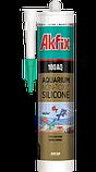 Аквариумный силиконовый герметик  Akfix 100AQ чёрный 280 мл, фото 3