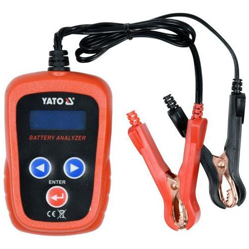 Тестер параметров аккумуляторов до 12 В с LED цифровым дисплеем YATO YT-83113 (Польша)