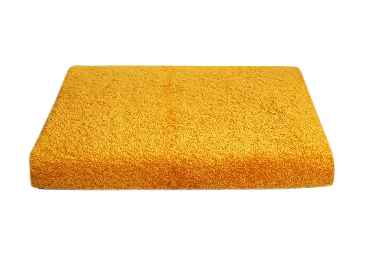 Полотенце лицевое махра 50*90 желтое