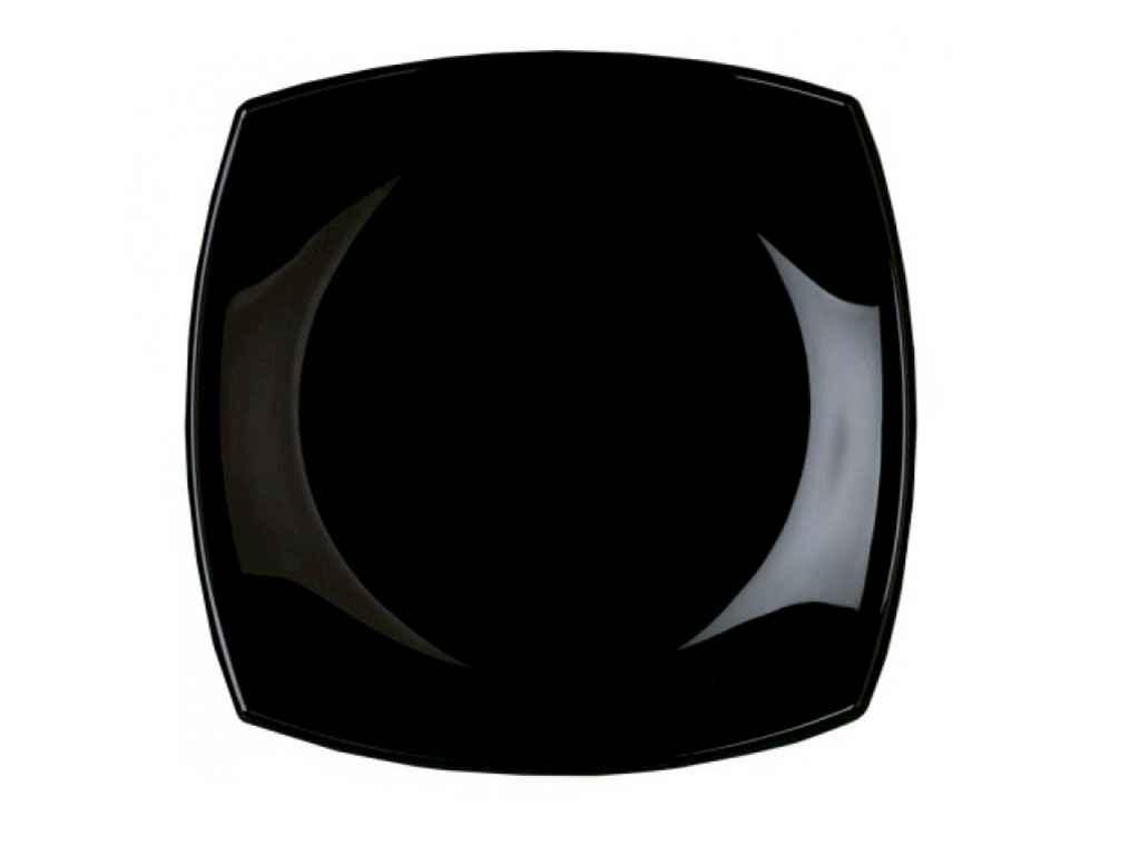 Тарелка десертная квадратная Luminarc Quadrato Black 19 см (H3670)