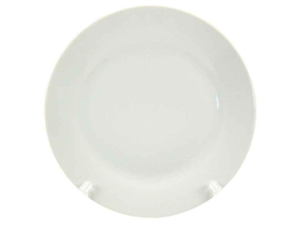 """Тарелка мелкая d=175  мм Белая в упаковке 12 шт """"Interos"""""""