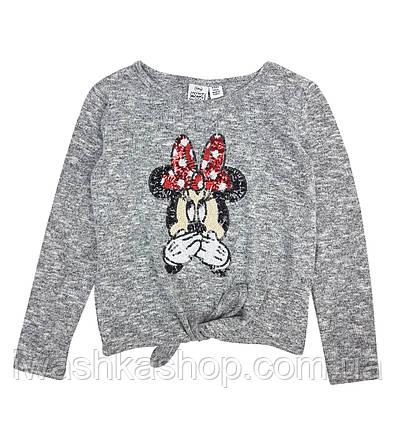 Трикотажный джемпер для девочки Минни Маус, Disney, Primark 140 р.