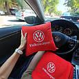 """Автомобильный набор: подушка и плед с логотипом """"Volkswagen"""" цвет на выбор, фото 2"""