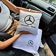 """Автомобільний набір: подушка і плед з логотипом """"Mercedes"""" колір на вибір, фото 3"""