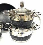 Набор посуды Benson BN-293 12 предметов Черный, фото 3