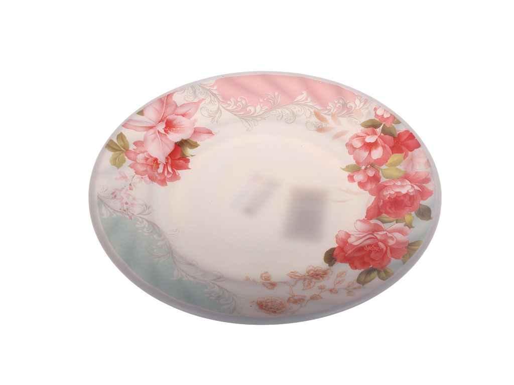"""Тарелка мелкая стеклокерамика d=230 мм Роза в упаковке 6 шт """"Lumines"""""""