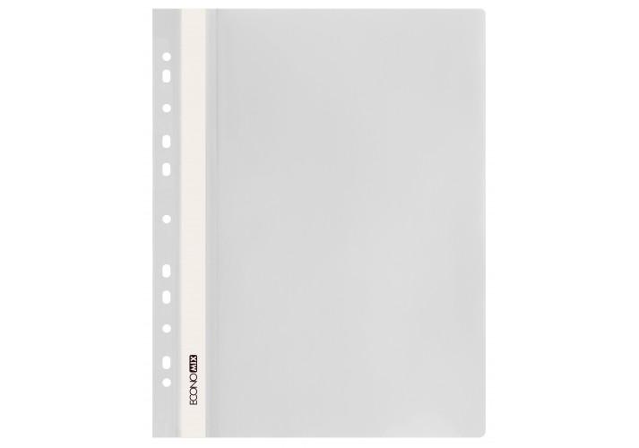 Папка-скоросшиватель глянцевые А4 с перфорацией белая  (упаковка 10шт)   economix  (E31510-14)