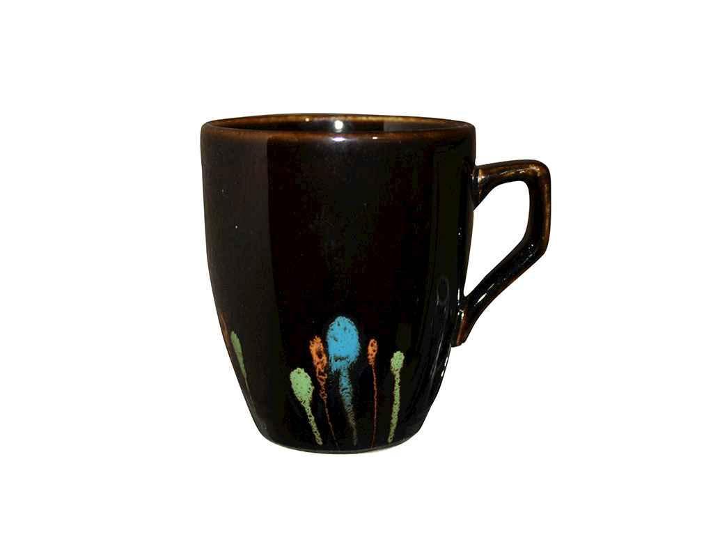 """Чашка керамика 320 мл Фейерверк на черном упаковка 6 шт """"Полигенько"""""""