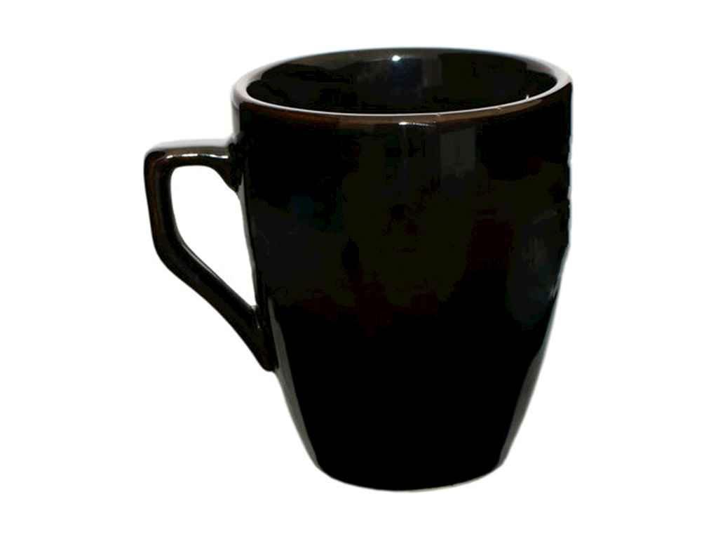 """Чашка керамика 320 мл Черный упаковка 6 шт """"Полигенько"""""""
