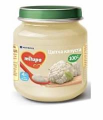 Дитяче пюре овочеве «Цвітна капуста» Milupa для дітей від 4 місяців