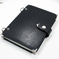 Кожаный блокнот M (А5 формата), лазерная гравировка.