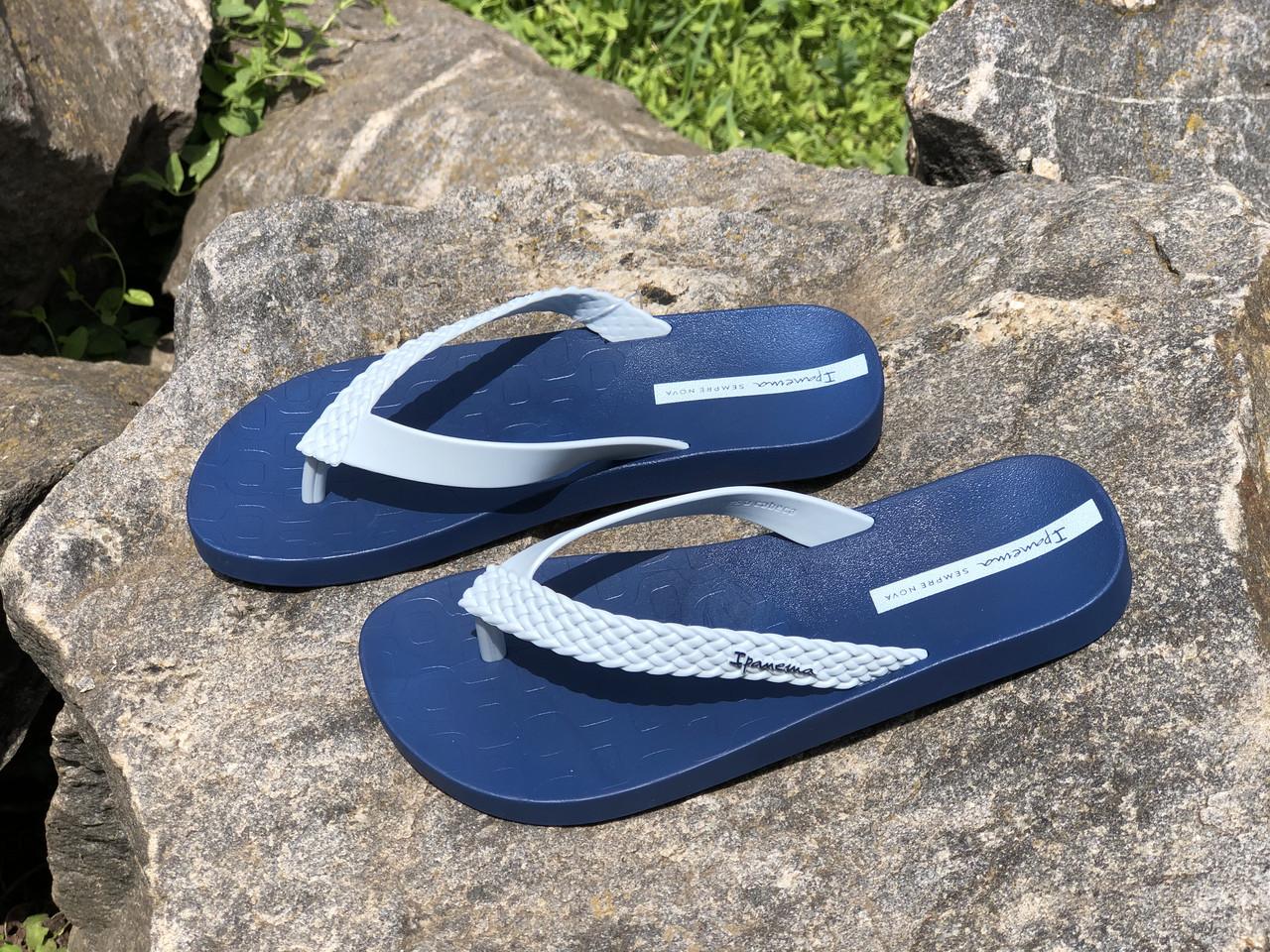 Шлепки  Ipanema 362 син/гол размеры 35-41