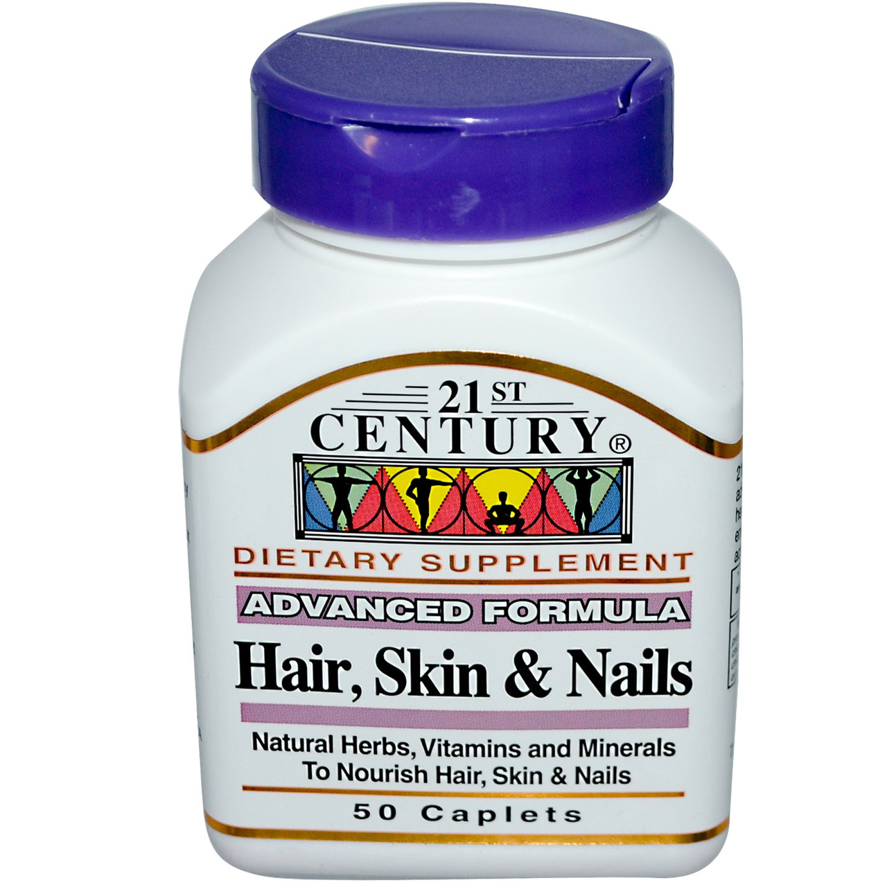 Витамины для волос, кожи и ногтей 21st Century Health Care, Улучшенная формула. Сделано в США.