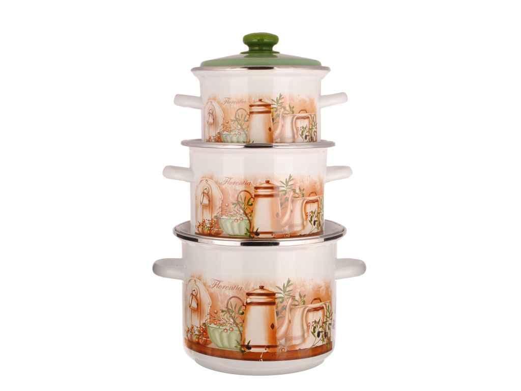 Набор эмалированной посуды Idilia Флоренция 3 предмета (№5)