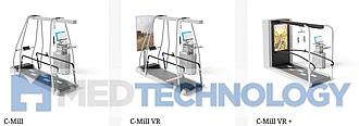 C-Mill, C-Mill VR, C-Mill VR+ (Motek), реабилитационная беговая дорожка