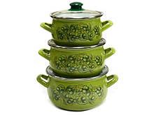 Набор эмалированной посуды Interos  Сицилия 3 предмета (2985)