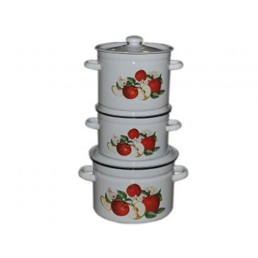 Набор эмалированной посуды Idilia Ароматный 3 предмета (№752)