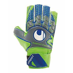 Вратарские перчатки Uhlsport Tensiongreen Soft SF Junior размер 4 зелено/синие