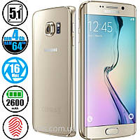 Смартфон Samsung Galaxy S6 Edge 64GB G925 Gold (Изогнутый экран)