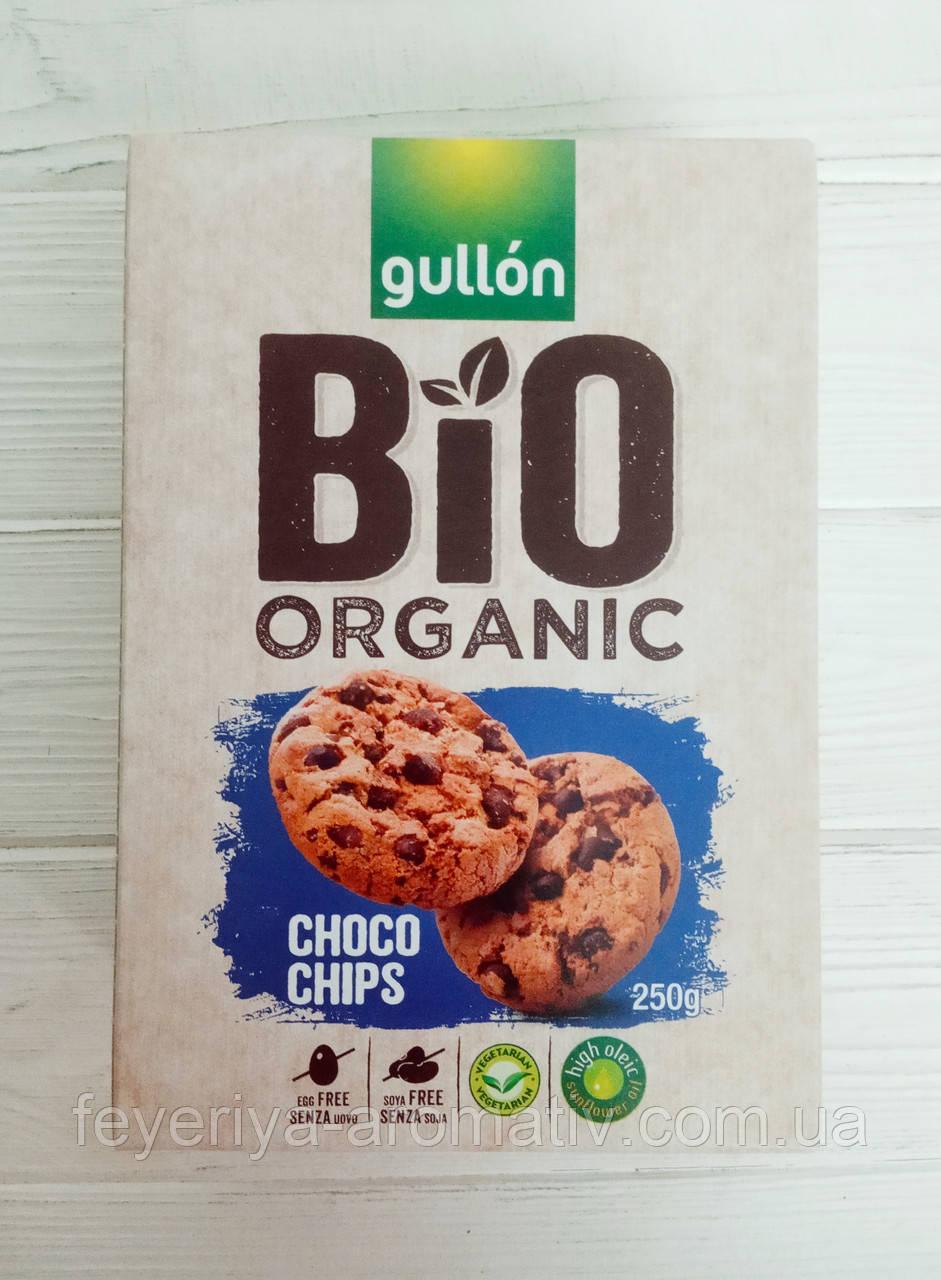 Печенье Gullon Bio Organic (Италия) Choco chips с шоколадной крошкой 250гр