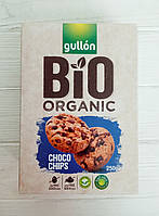 Печенье Gullon Bio Organic (Италия) Choco chips с шоколадной крошкой 250гр, фото 1