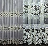 """Нарядна тюль,(3х2,5м) гардина з тканини """"Кристалон"""". Колір шампань. Код 552т 40-227, фото 1"""