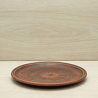 Тарелка средняя из красной глины, диаметр 22см, фото 1