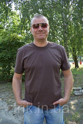 Футболка мужская коричневая, фото 2