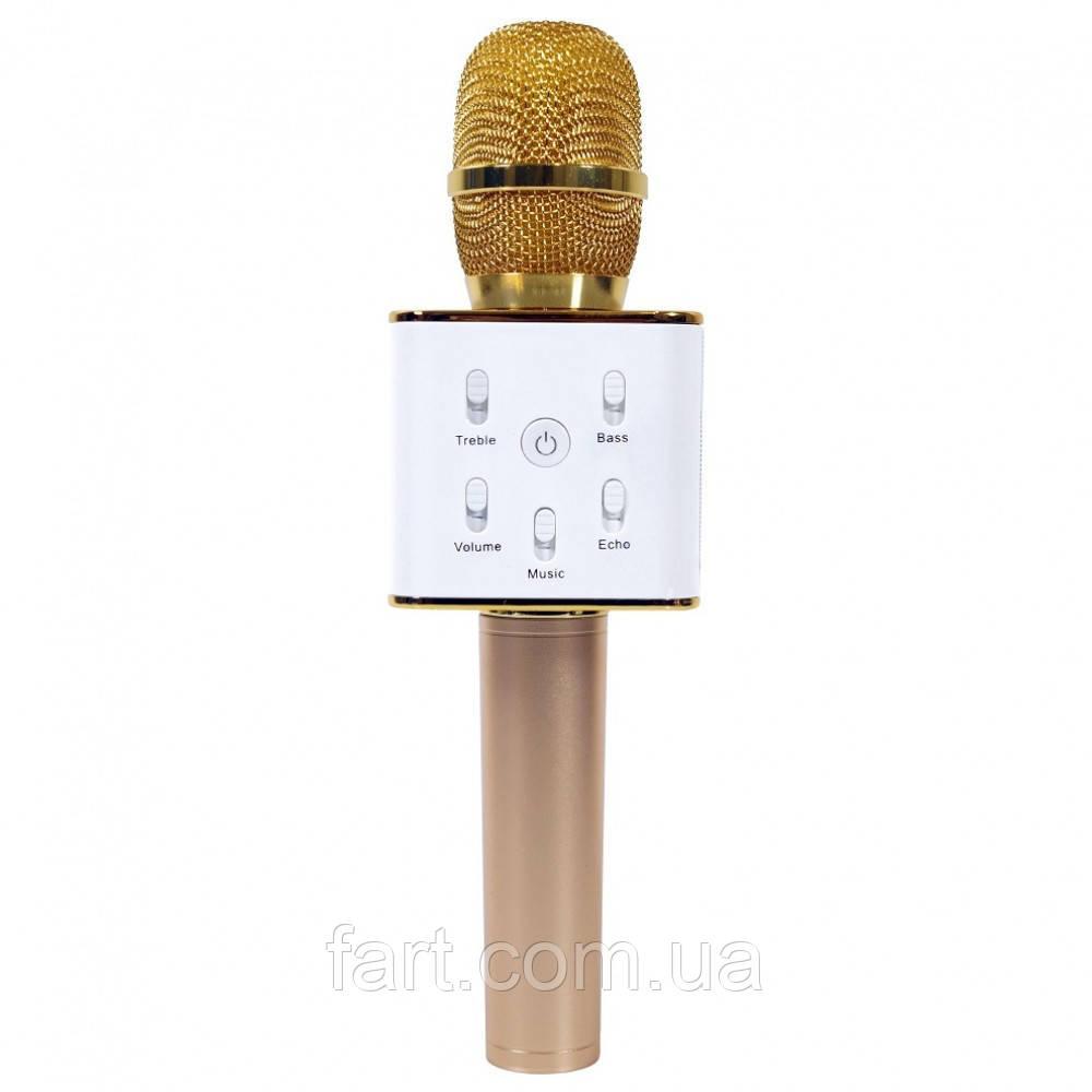 РАСПРОДАЖА!!! Караоке Микрофон Tuxun Q7 ЗОЛОТО в коробке