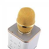 РАСПРОДАЖА!!! Караоке Микрофон Tuxun Q7 ЗОЛОТО в коробке, фото 5