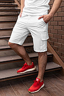 Мужские белые шорты Карго