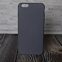 Силиконовый бампер для IPhone 6 Plus серый Silicone Case