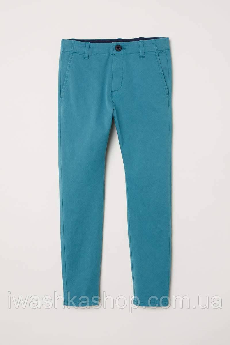Хлопковые эластичные брюки для мальчика 12 - 13 лет, р. 158, H&M