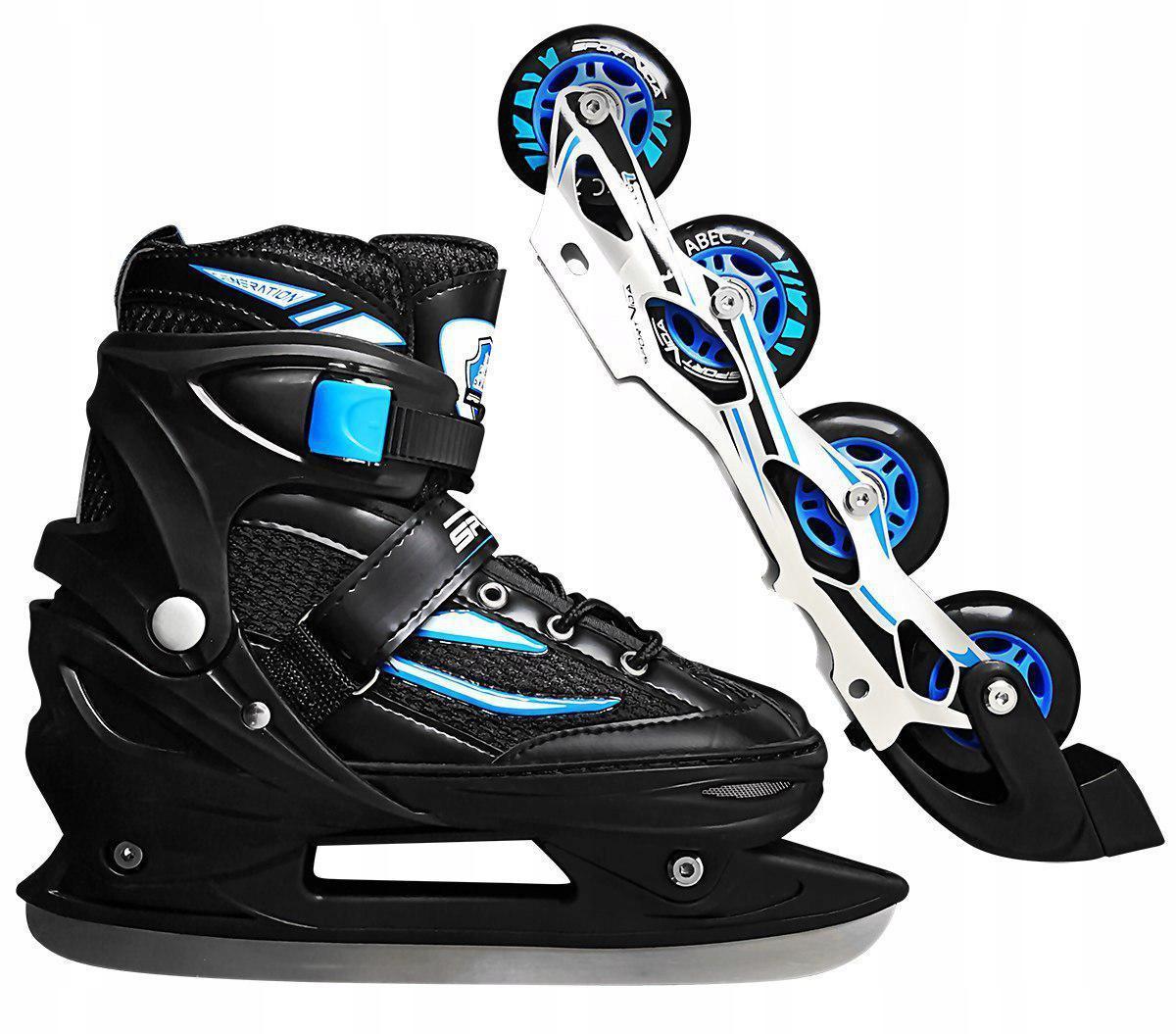 Роликовые коньки SportVida 4 в 1 SV-LG0028 Size 31-34 Black/Blue