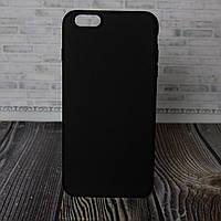 Силиконовый бампер для IPhone 6 plus черный Silicone Case